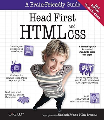 Elisabeth Robson Head First Html And Css A Learner's Guide To Creating Standards Based Web 0002 Edition;