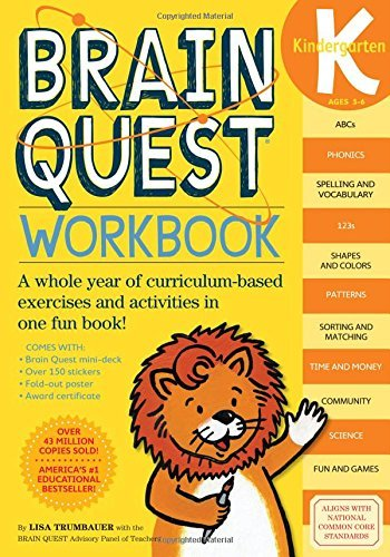 Lisa Trumbauer Brain Quest Workbook Kindergarten [with Stickers]
