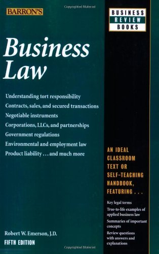 Robert W. Emerson Business Law 0005 Edition;
