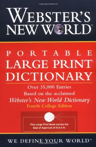 Webster's New World Dictionary Webster's New World Large Print Dictionary 0002 Edition;large Print