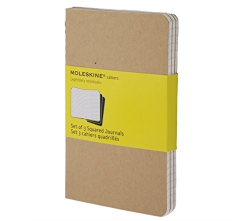 moleskine-pocket-cahier-journals-squared-kraft-set-of-3