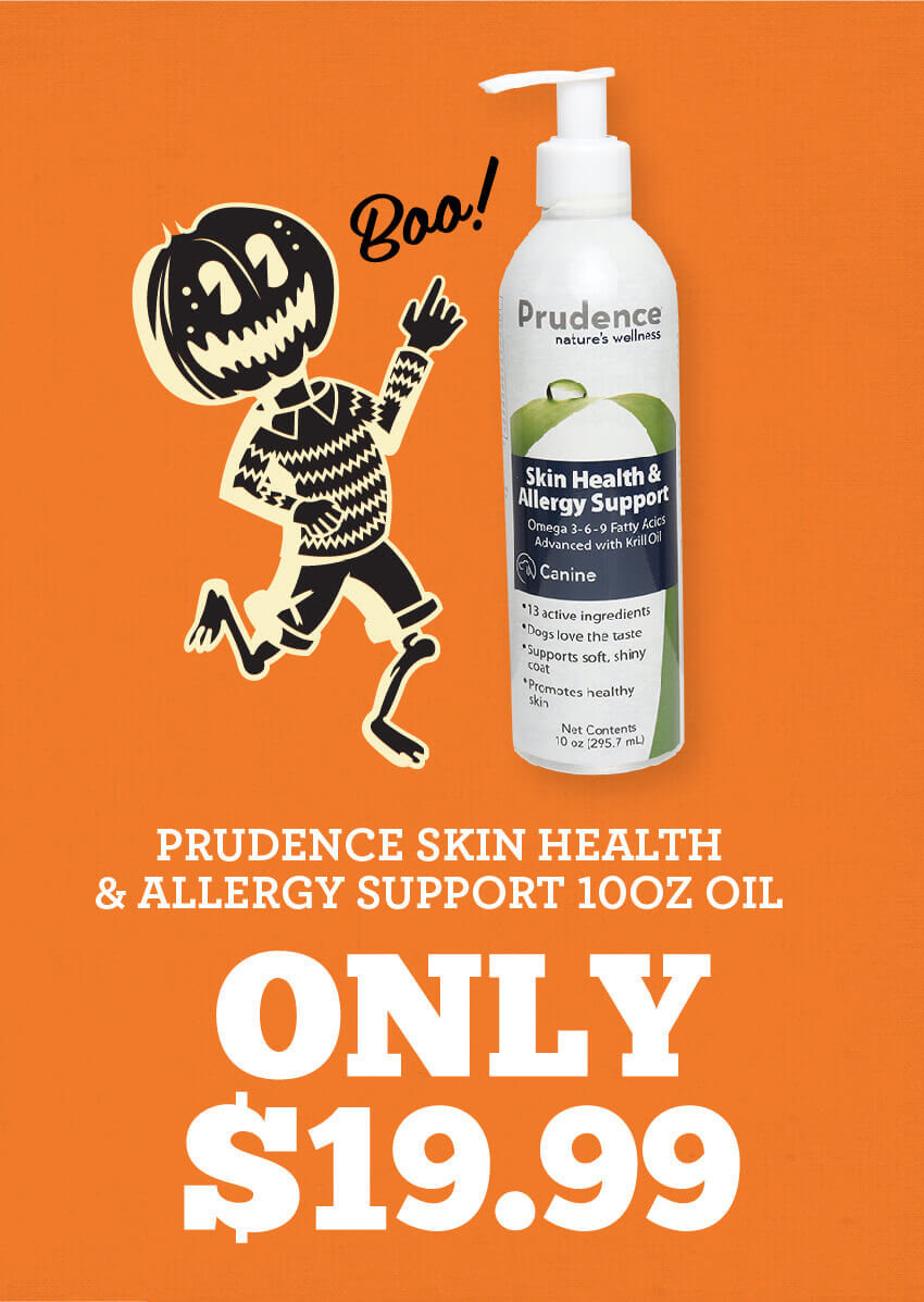 Prudence Skin Health and Allergy Support 10 ounce Oil is only nineteen dollars and ninty nine cents!