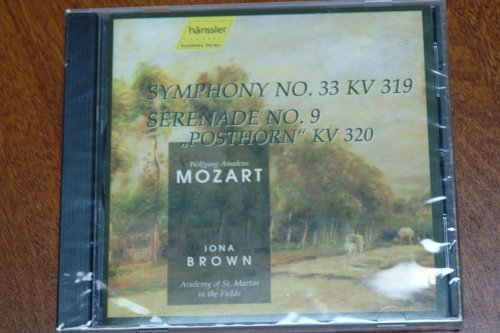 Wolfgang Amadeus Mozart Iona Brown Academy Of St. W A Mozart Symphony No 33 Serenade No 9