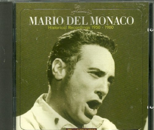 Mario Del Monaco Historical Recordings 1950 60 Import Eu