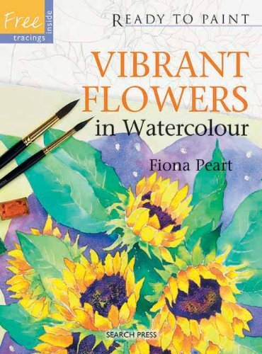 Fiona Peart Vibrant Flowers In Watercolour