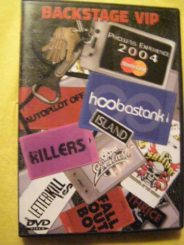 Hoobastank The Killers Letter Kills Autopilot Off Backstage Vip Priceless Experience 2004
