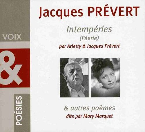 Jacques Prevert Intemperies & Autres Poemes Import Eu