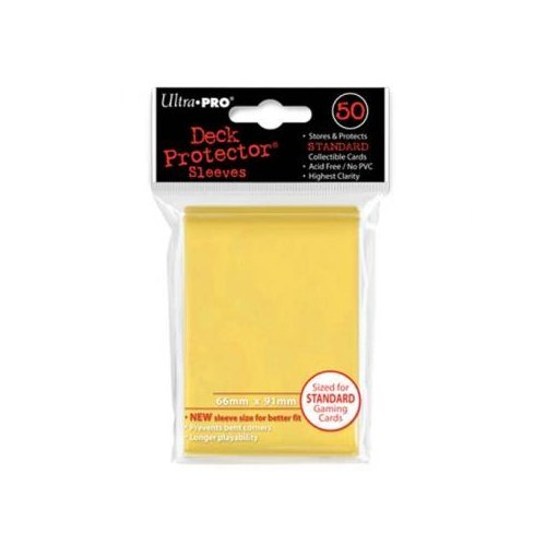 Card Sleeves Yellow Standard 50 Pack