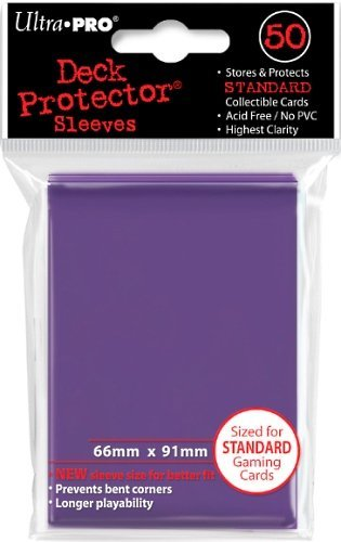 Card Sleeves Purple Standard 50 Pack