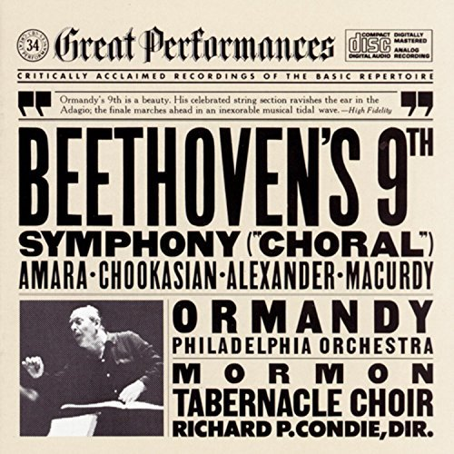 Ludwig Van Beethoven/Symphony No 9 (Choral)@Ormandy/Philadelphia Orch