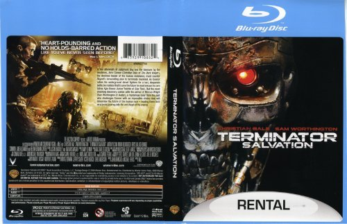 Terminator Salvation Bale Worthington Yelchin Blu Ray Rental Version