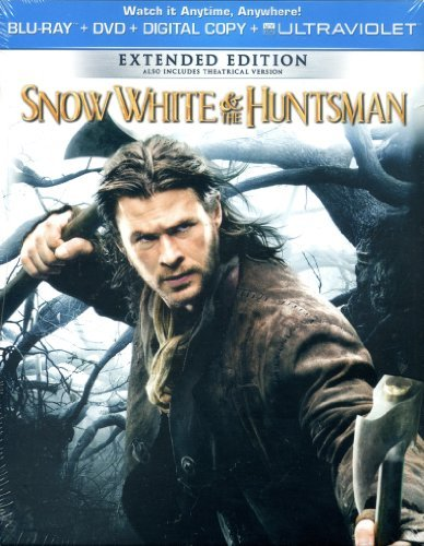 Snow White & The Huntsman Stewart Theron Hemsworth Blu Ray DVD Dc
