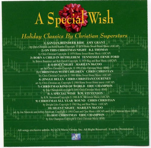 Holiday Classics By Christi Special Wish Grant Christian Thomas Mccoo