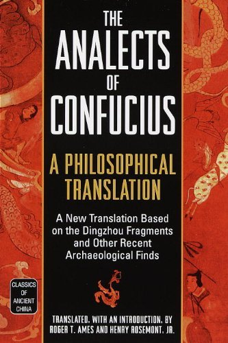 Roger T. Ames The Analects Of Confucius A Philosophical Translation