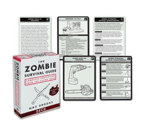 Max Brooks The Zombie Survival Guide Deck Complete Protection From The Living Dead