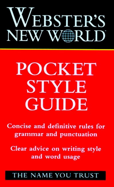 Haslem John A. Jr. Webster's New World Pocket Style Guide 0028 Edition;