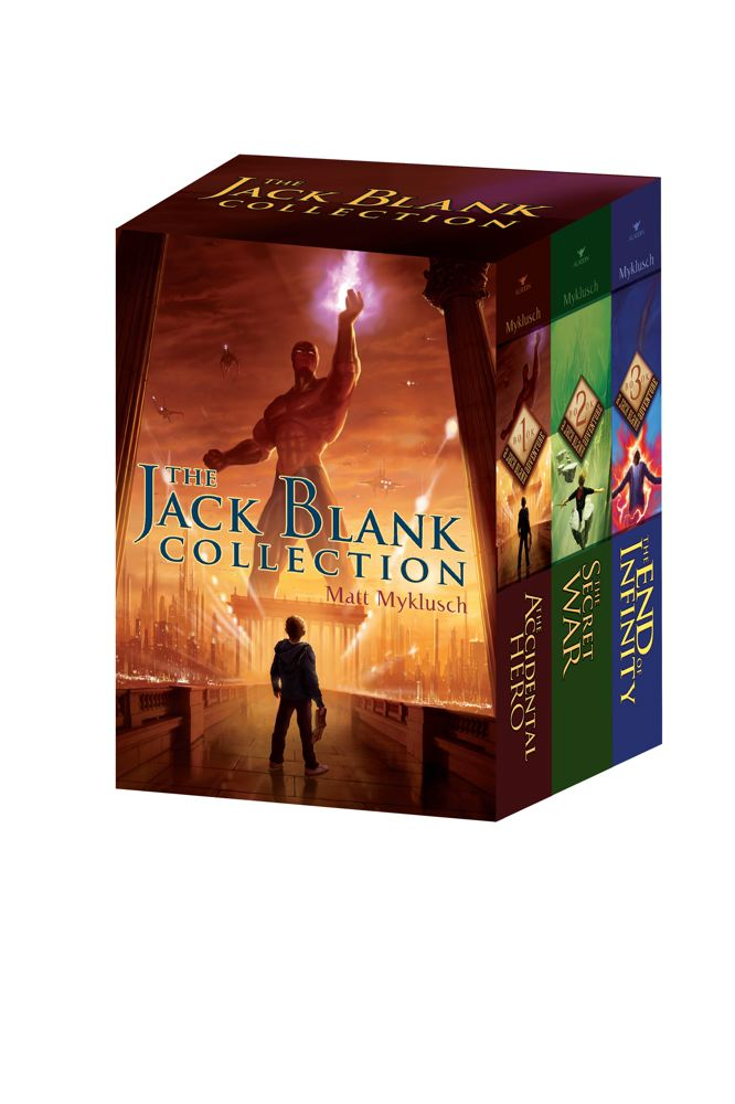 Matt Myklusch The Jack Blank Collection The Accidental Hero The Secret War The End Of Inf Boxed Set