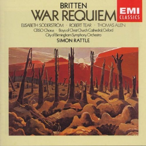 B. Britten War Requiem 2 CD Set Rattle