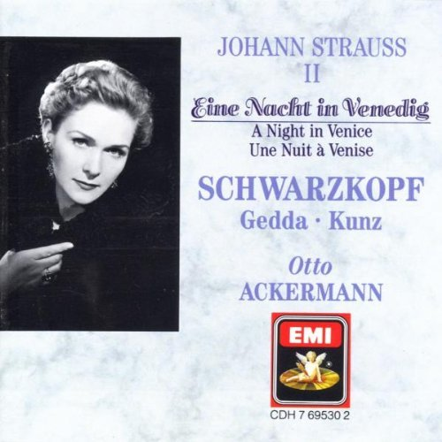 J. Strauss Night In Venice Hlts Schwarzkopf Gedda Kunz Ackermann Phil Orch & Chorus