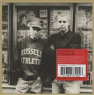Pet Shop Boys Red Letter Day