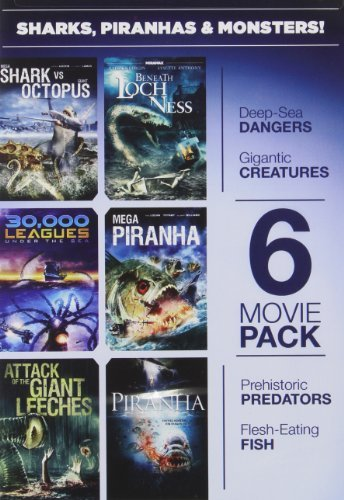 6 Movie Pack Sharks Piranhas 6 Movie Pack Sharks Piranhas Ws Nr 2 DVD