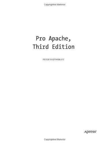 Peter Wainwright Pro Apache 0003 Edition;softcover Repri