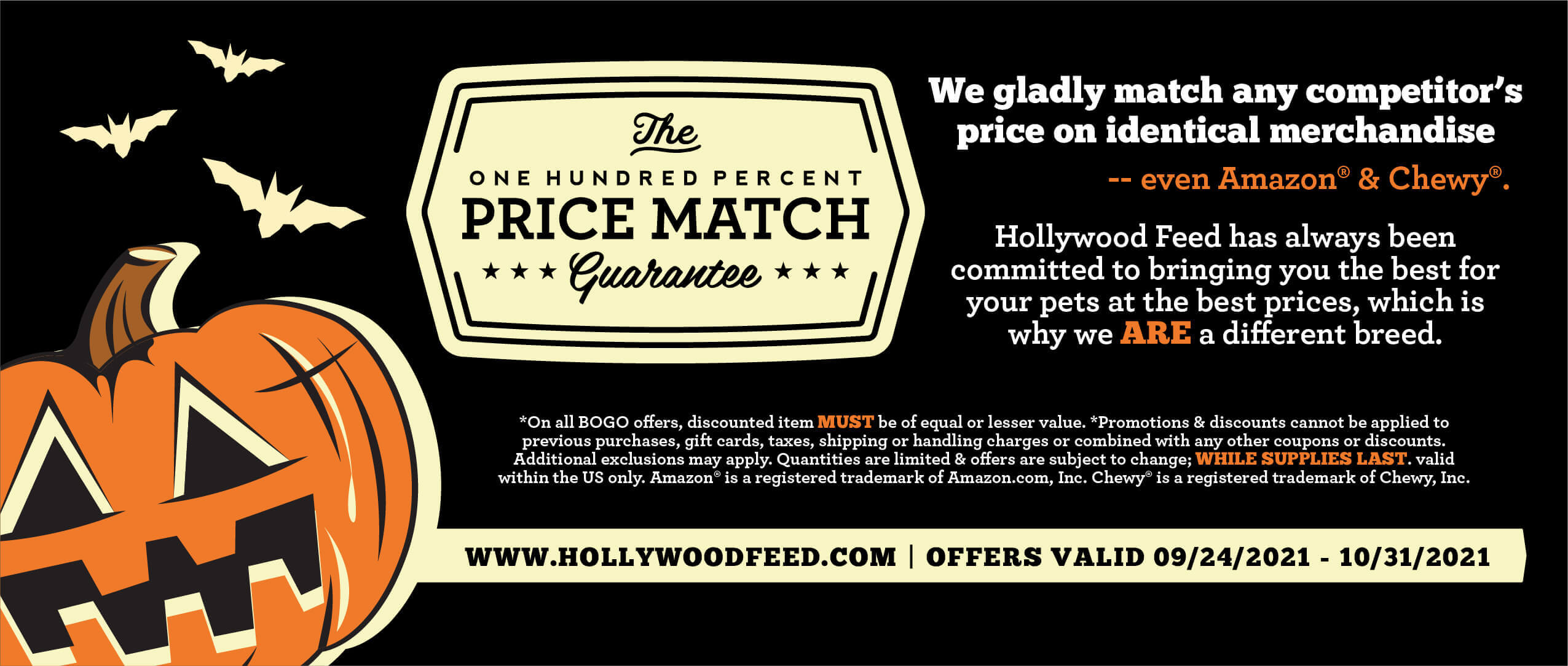 Footer - Price Match Guarantee - We gladly match any competitor's price on identical merchandise.