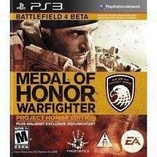 Ps3 Battlefield 4 Beta Medal Of Honor Warfighter Project Honor Edition