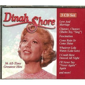 Dinah Shore All Time Greatest Hits 3 CD Set