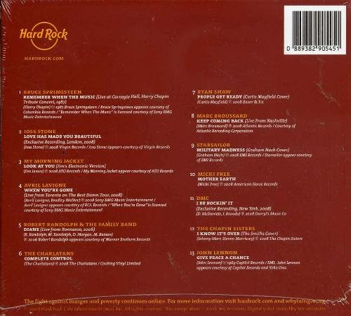 Various Artists Bruce Springsteen Joss Stone Stars Serve3 The Hard Rock Benefit Album (why)