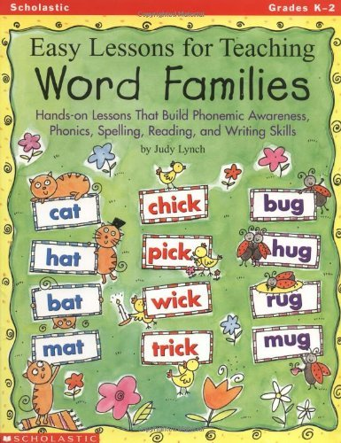 Judy Lynch Easy Lessons For Teaching Word Families Hands On Lessons That Build Phonemic Awareness P