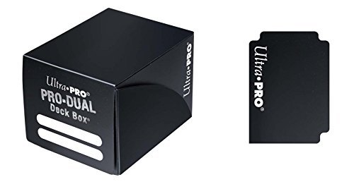 Deck Box Pro Dual Black Holds 120 Cards