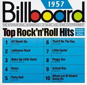 Billboard Top Rock N Roll H 1957 Billboard Top Rock N Roll Presley Everly Brothers Holly Billboard Top Rock N Roll Hits