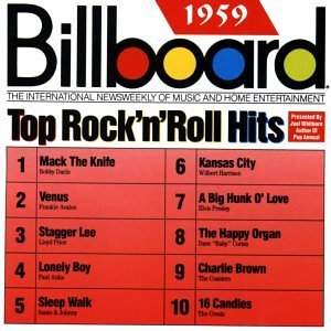 Billboard Top Rock N Roll H 1959 Billboard Top Rock N Roll Presley Darin Avalon Crests Billboard Top Rock N Roll Hits
