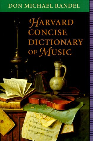 Don Michael Randel Harvard Concise Dictionary Of Music