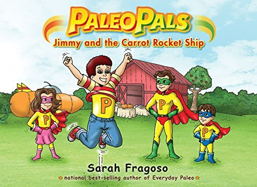 Sarah Fragoso Paleo Pals Jimmy And The Carrot Rocket Ship Original