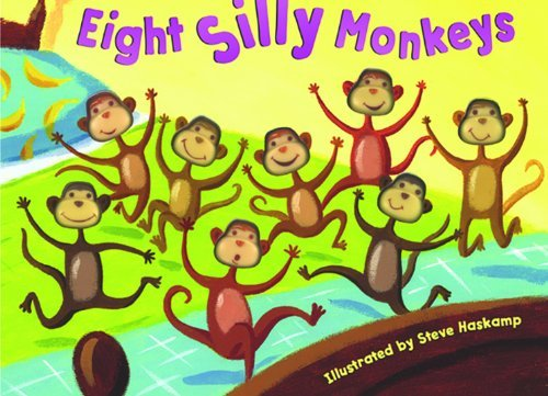 Steven Haskamp Eight Silly Monkeys Jumping On The Bed