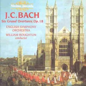J.C. Bach Six Grand Overtures Boughton English Orch