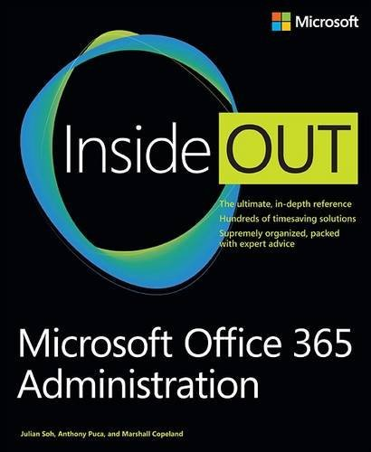 Anthony Puca Microsoft Office 365 Administration Inside Out