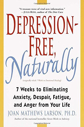 Joan Mathews Larson Depression Free Naturally 7 Weeks To Eliminating Anxiety Despair Fatigue