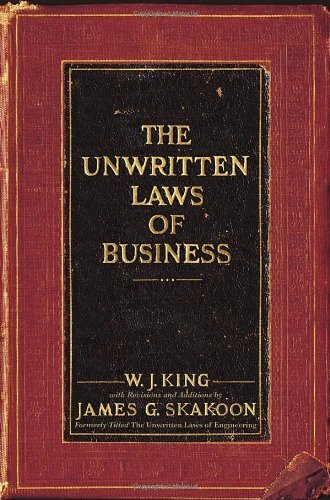 J. W. King Unwritten Laws Of Business The