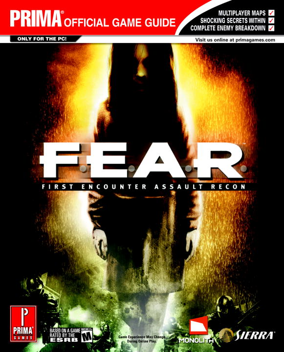 Prima Temp Authors Prima Official Game Guide F.E.A.R. First Encounter Assault Recon