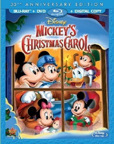Mickey's Christmas Carol Disney DVD Dcblu Ray G Ws 30th Anniversary Edition