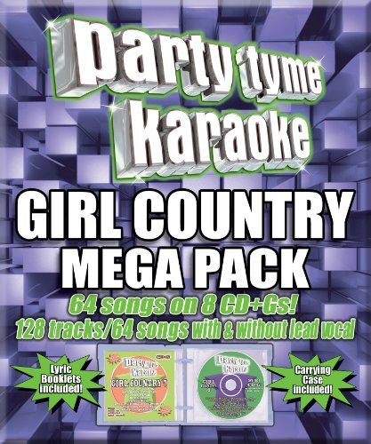 party-tyme-karaoke-girl-country-mega-pack-8-cd-incl-cdg