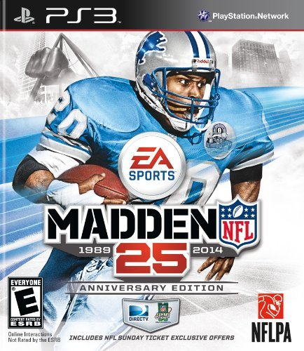 Ps3 Madden Nfl 25 Anniversary Edition With Nfl Sunday Madden Nfl 25 Anniversary Edition With Nfl Sunday