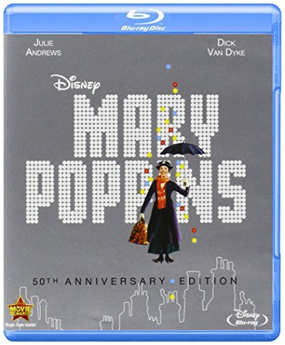 Mary Poppins 50th Anniversary Blu Ray DVD Dc G Ws