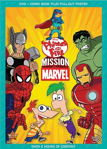 Phineas & Ferb Mission Marvel DVD Tvg Incl. Comic Book Poster