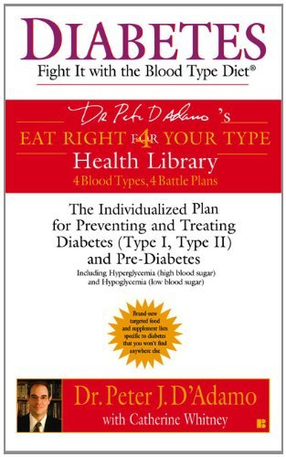 Peter J. D'adamo Diabetes Fight It With The Blood Type Diet The Individual