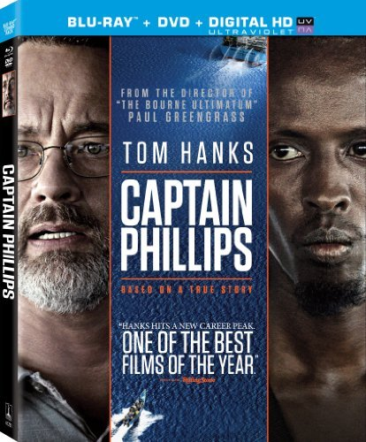 Captain Phillips Hanks Keener Martini Blu Ray DVD Uv Pg13 Ws