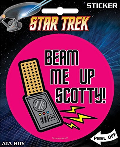 Sticker Star Trek Beam Me Up Scotty